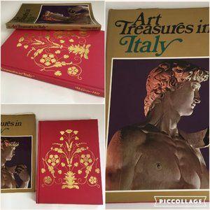 Art Treasures In Italy Book Vintage 1969 HC DJ